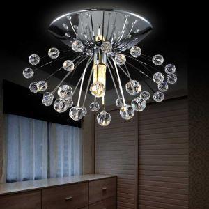 (Entrepôt UE) Livraison gratuite pas cher mini Moderne chromé cristal plafonnier une lumière Lumières de porche de pissenlit pour l'entrée salon chambre à coucher