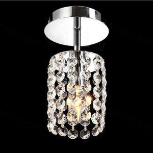 Livraison gratuite pas cher mini Moderne chromé cristal plafonnier K9 cristal Lumières de porche pour l'entrée salon chambre à coucher