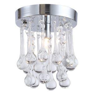 (Entrepôt UE) Livraison gratuite pas cher mini Moderne chromé cristal plafonnier K9 cristal Lumières de porche pour l'entrée salon chambre à coucher