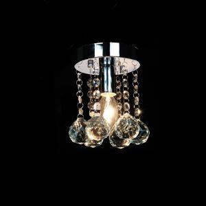 (Entrepôt UE) Livraison gratuite pas cher mini Moderne chromé cristal plafonnier K9 cristal pour l'entrée salon chambre à coucher