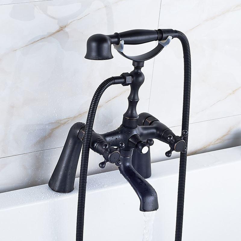 robinet de baignoire noire peinture pour salle de bains r tro. Black Bedroom Furniture Sets. Home Design Ideas