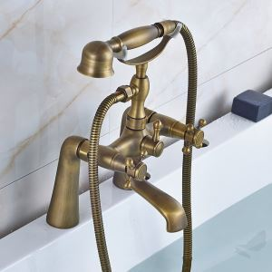 Robinet de baignoire Antique brossé Cannelle pour Salle de bains