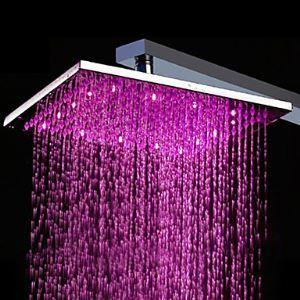 (Entrepôt UE) Pomme de douche en laiton de 10 pouces avec LED changeant de couleur