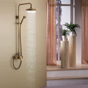 (Entrepôt UE) Robinet de douche en laiton antique mitigeur pour salle de bains toilettes
