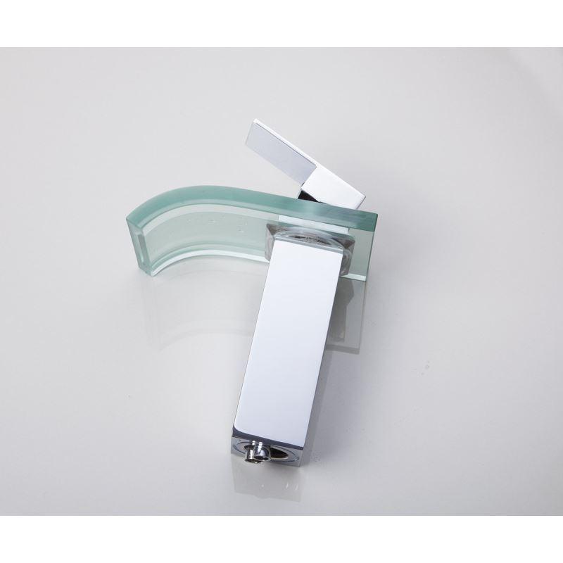 robinet de lavabo en verre chrom led pour salle de bain. Black Bedroom Furniture Sets. Home Design Ideas
