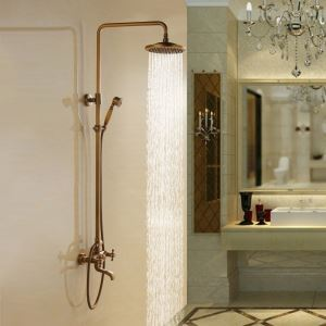 Colonne de douche en laiton avec robinetterie rétro pour salle de bain