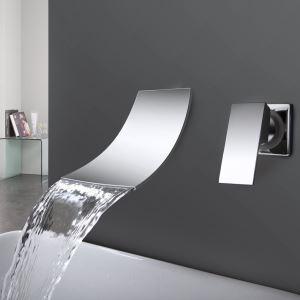 (Entrepôt UE) Cascade robinet d'évier généralisée de salle de bain contemporaine (finition chromée)