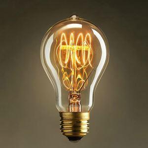 (Entrepôt UE) 40W E27 Rétro/Vintage Edison ampoule pour luminaire A19 Ampoules halogènes
