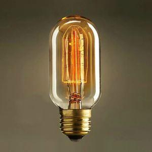 (Entrepôt UE) 40W E27 Rétro/Vintage Edison ampoule pour luminaire T45 Ampoules halogènes
