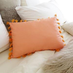 (Entrepôt UE) Village américain orange cliar oreiller lombaire