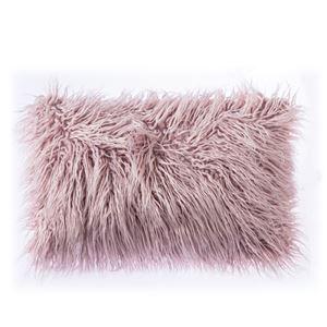 Taie de coussin oreiller Fourrure mongole imitation 5 couleurs 30*50cm
