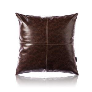 Taie de coussin brun cuir huile imitation coussin oreiller de haute qualité pour voiture bureau lombaire canapé sofa