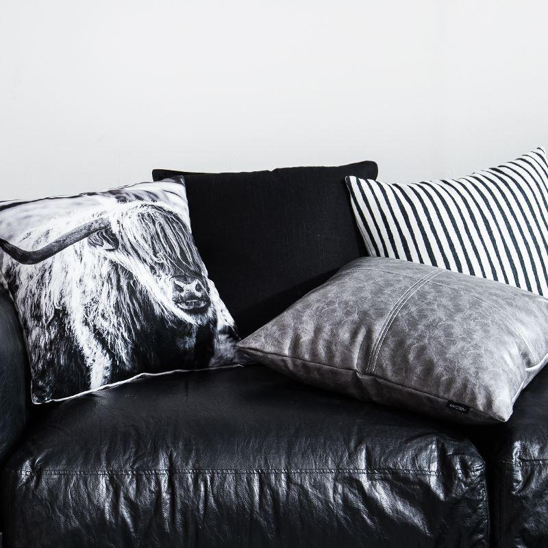 taie de coussin gris en cuir haute qualit pour voiture bureau lombaire canap sofa. Black Bedroom Furniture Sets. Home Design Ideas