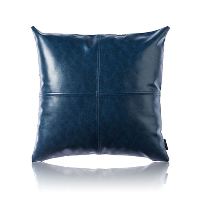 taie de coussin en cuir huile imitation coloris bleu haute qualit pour voiture bureau lombaire. Black Bedroom Furniture Sets. Home Design Ideas
