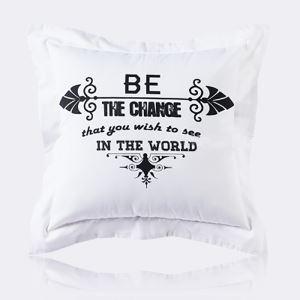 (Entrepôt UE) Moderne nordique Ultra-doux velours noir et blanc Motif de lettres d'amour coussin oreiller canapé
