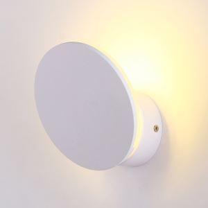 Style moderne simple LED Applique murale en fer processus peinture coloris blanc 1 lumière