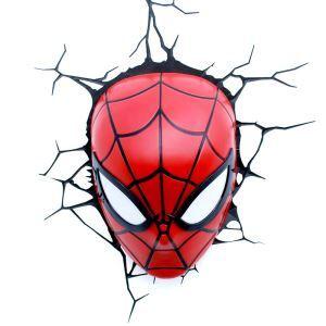 Style moderne simple mode LED 3D Applique murale créative forme de Spiderman