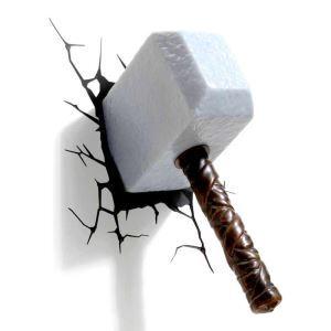 Style moderne simple mode LED 3D Applique murale créative forme de grand marteau
