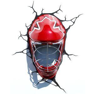 Style moderne simple mode LED 3D Applique murale créative forme de la masque de Hockey sur glace
