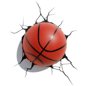 Style moderne simple mode LED 3D Applique murale créative forme de basketball