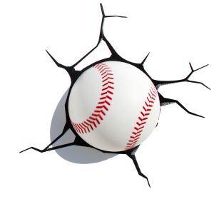 Style moderne simple mode LED 3D Applique murale créative forme de base-ball