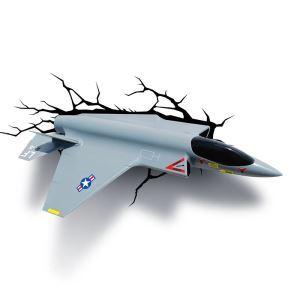 Style moderne simple mode LED 3D Applique murale créative forme d'avion