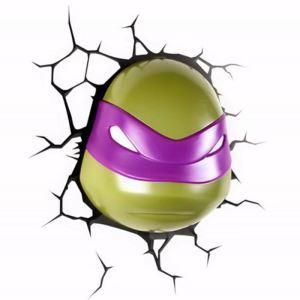 Style moderne simple mode LED 3D Applique murale créative forme de Teenage Mutant Ninja Turtles DONATELLO