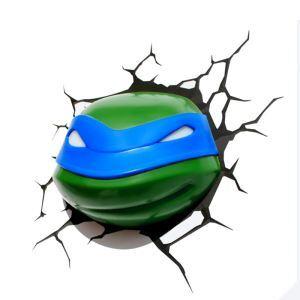 Style moderne simple mode LED 3D Applique murale créative forme de Teenage Mutant Ninja Turtles TMNT LEONARDO