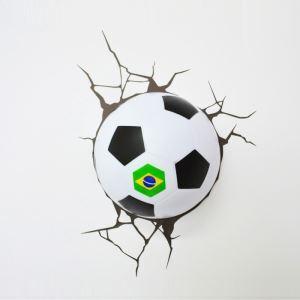 Style moderne simple mode LED 3D Applique murale créative forme football de Brésil Coupe du Monde