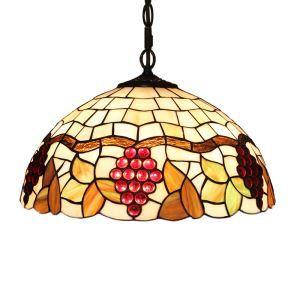 Suspension en verre de couleur à motif des raisins luminaire pour salon chambre salle à manger cuisine