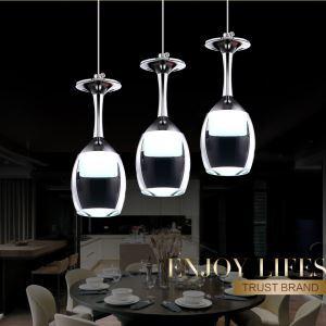 (Entrepôt UE) Lustre Plafonnier 3wx3  lumières verre à vin tasse pour cuisine salon salle à manger pas cher
