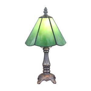 Lampe à poser en verre tiffany vert luminaire pour chambre à coucher salon restaurant