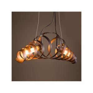 (Entrepôt UE)Style industriel rétro lustre en fer Minimaliste suspension luminaire bar cuisine salon chambre