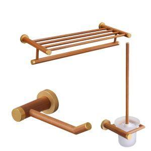 (Entrepôt UE) Style européen simple Accessoires de salle de bain Porte-serviettes Porte-papier support de brosse de toilette