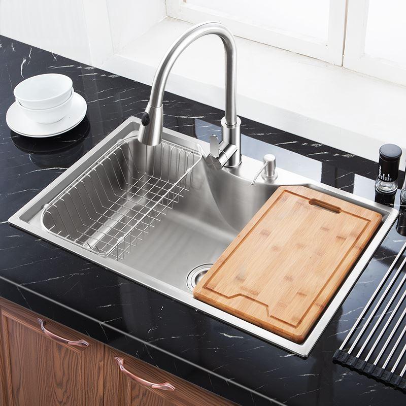 Evier encastrer en acier inoxydable 304 1 bac design for Panier pour evier cuisine
