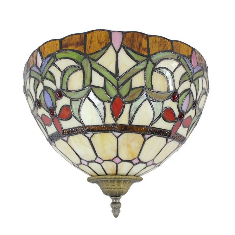 Applique Chambre Vintage : Applique intérieur tiffany vintage à motif colore
