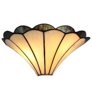 (Entrepôt UE)12inch Applique murale intérieur tiffany lampe murale jardin vintage européen abat-jour style jupe luminaire pour cuisine chambre salon chambre
