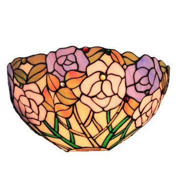 applique int rieur tiffany vintage roses luminaire pour cuisine chambre salon. Black Bedroom Furniture Sets. Home Design Ideas