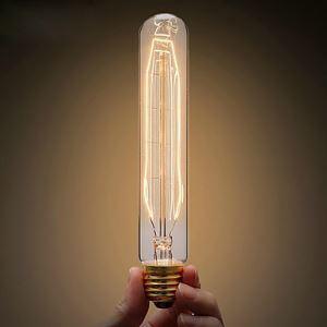(Entrepôt UE) 40W E27/E26 Retro/Vintage Edison ampoule T10 Halogène
