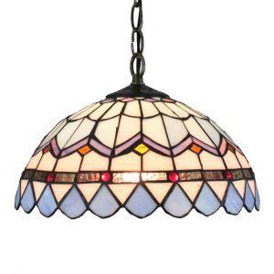 (Entrepôt UE)12inch Style Pastoral Européen Rétro Suspension Abat-jour couleur luminaire pour salon cuisine chambre
