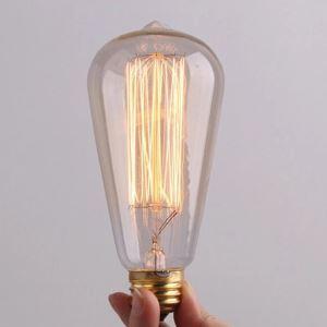(Entrepôt UE) 40W E27 Rétro/Vintage Edison ampoule pour luminaire ST64 Ampoules halogènes