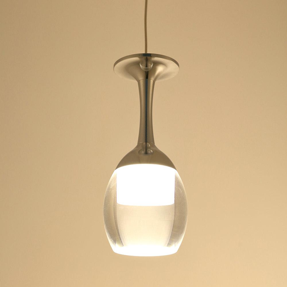 suspension lumi re verre vin 3w led de lustre de tasse pour le salon bar salon salle manger. Black Bedroom Furniture Sets. Home Design Ideas