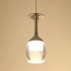 (Entrepôt UE) suspension lumière verre à vin 3W LED de lustre de tasse pour le salon bar salon salle à manger