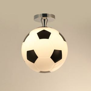 Plafonnier D25cm football lustre boule design pour chambre d'enfant