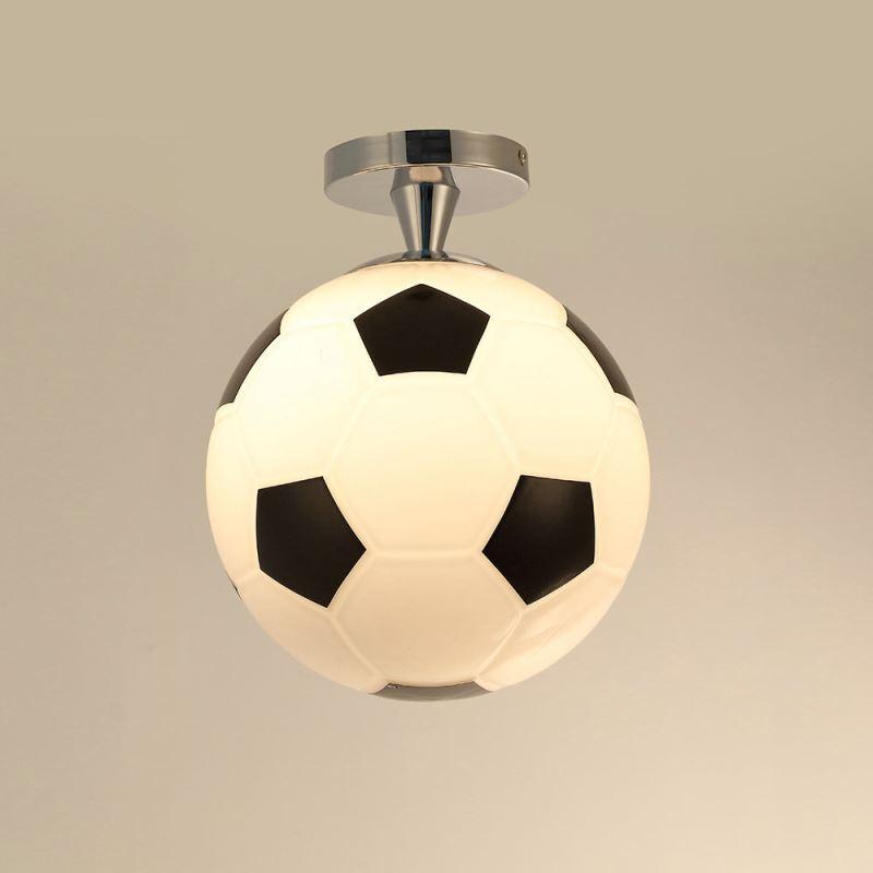 Plafonnier d25cm football lustre boule design pour chambre for Plafonnier boule design