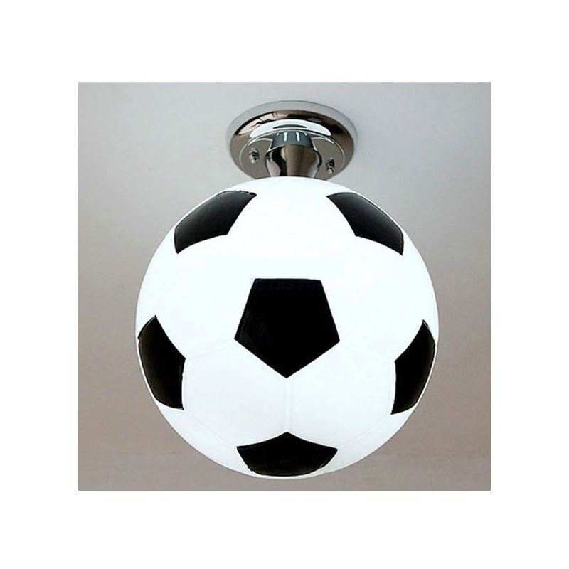 plafonnier d25cm football lustre boule design pour chambre d 39 enfant. Black Bedroom Furniture Sets. Home Design Ideas