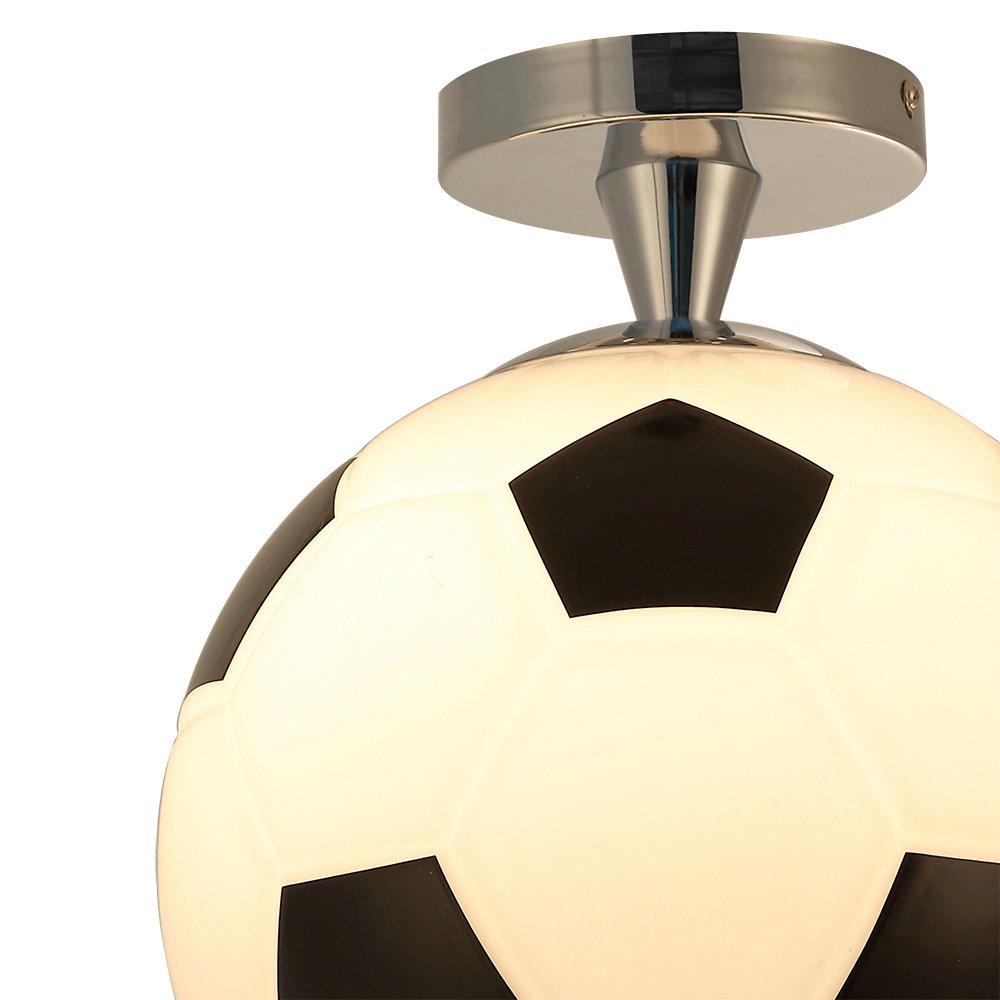 plafonnier d25cm football lustre boule design pour chambre d 39 enfant. Black Bedroom Furniture Sets. Home Design Ideas