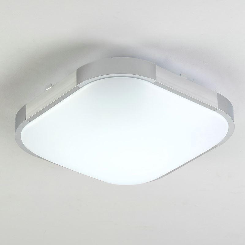 Plafonnier led lampe de plafond aluminum acrylique for Lampe plafond salle de bain