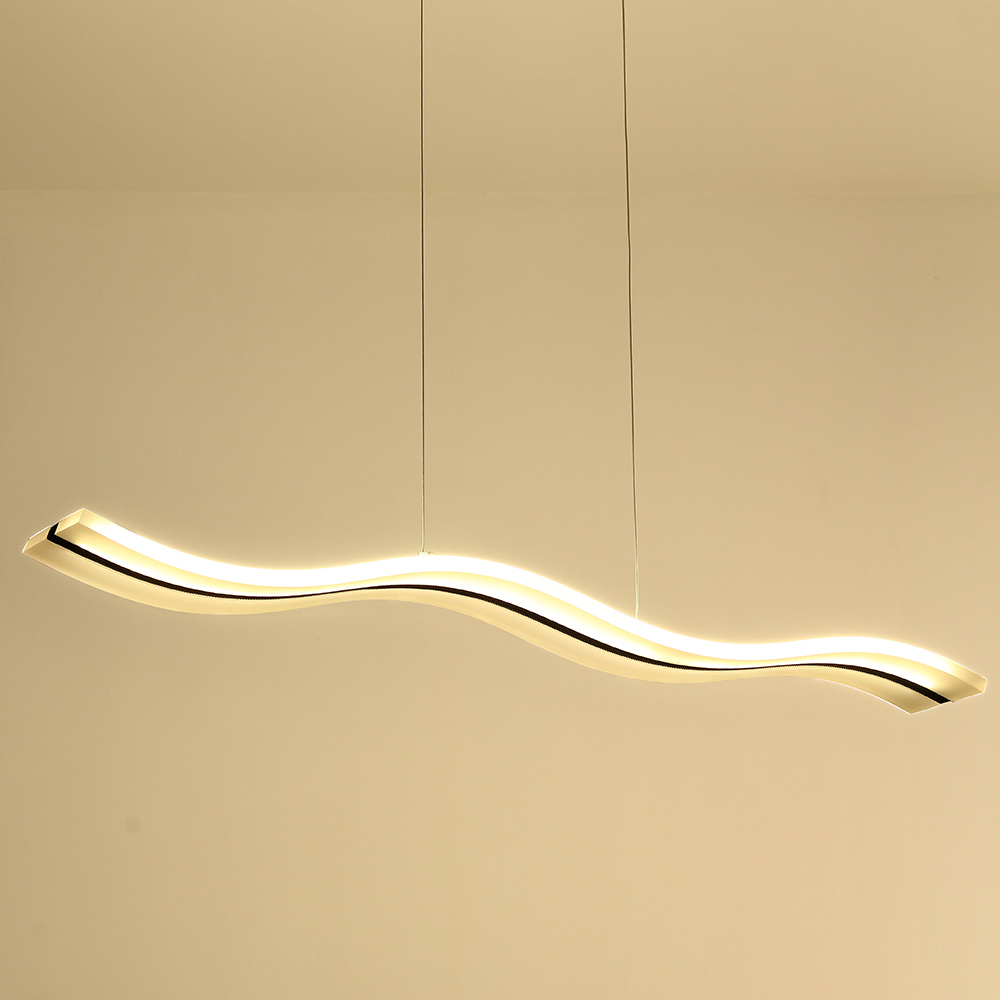Lustre design moderne suspension led contemporain en forme for Suspension led cuisine design