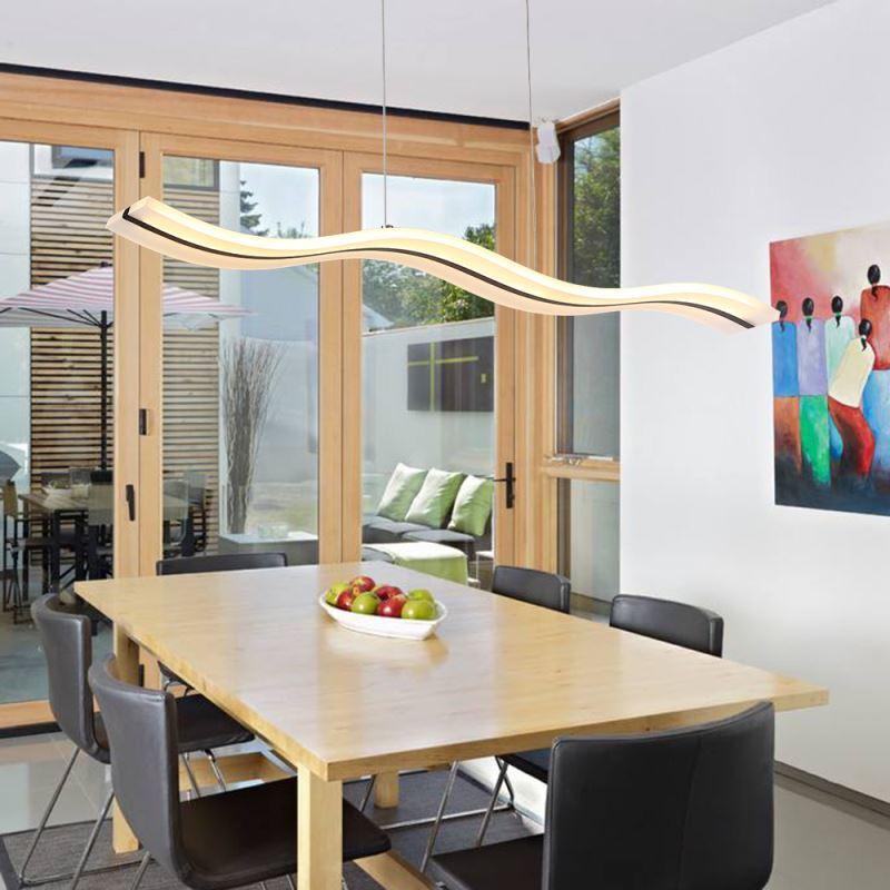 Suspension led en forme de vague acrylique design a for Forme cuisine moderne